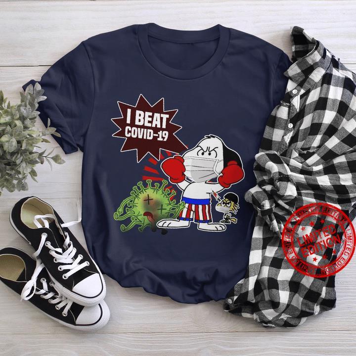 Snoopy Wear Mask I Beat Covid 19 Shirt