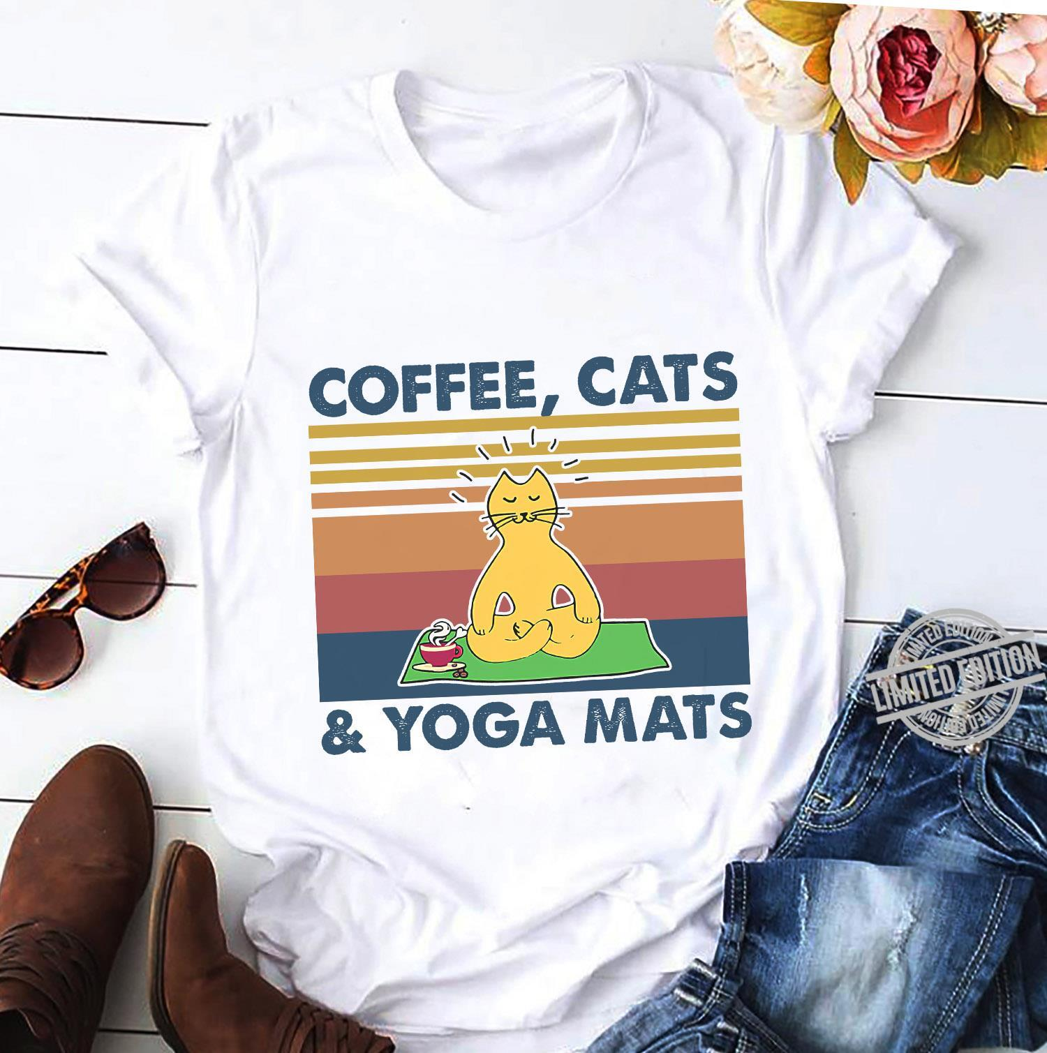 Coffee Cats & Yoaga Mats Shirt