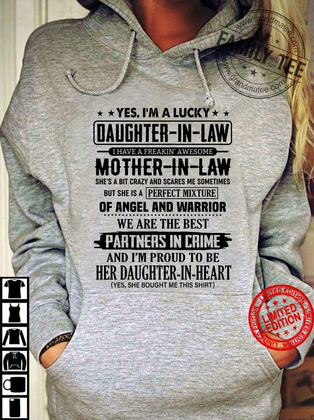 Daughter In Law Mother In Law We Are The Best Partners In Crime Shirt