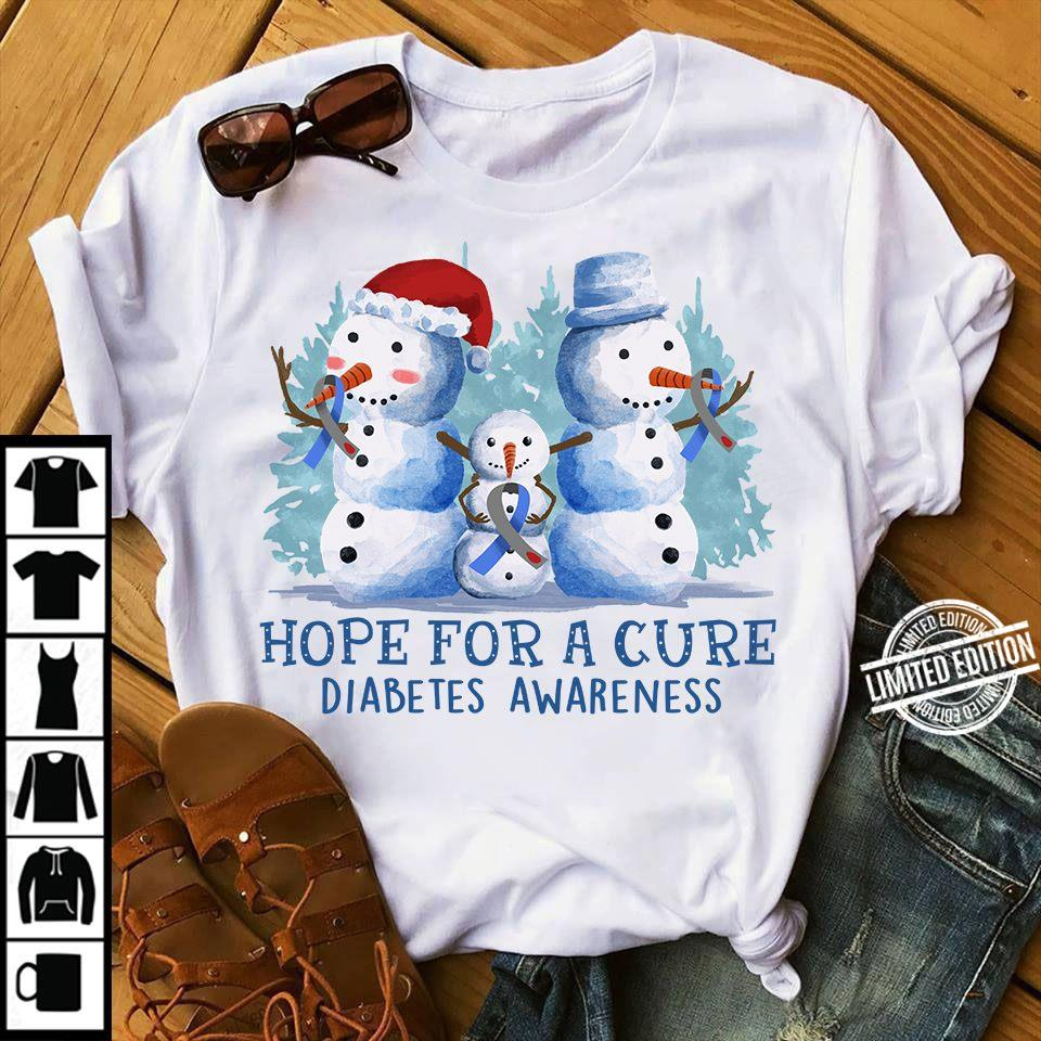 Hope For A Cure Diabetes Awareness Shirt