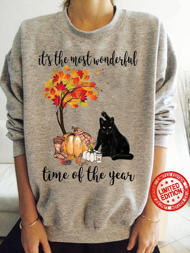 It's The Most Wonderful Time Of The Year Cat Shirt