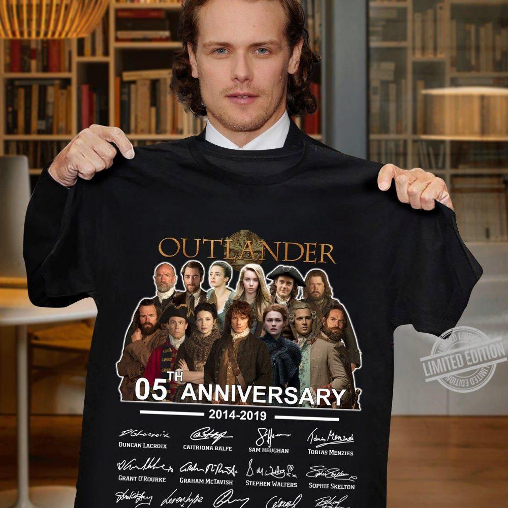 Outlander 50th Anniversary 2014 2019 Signatures Shirt