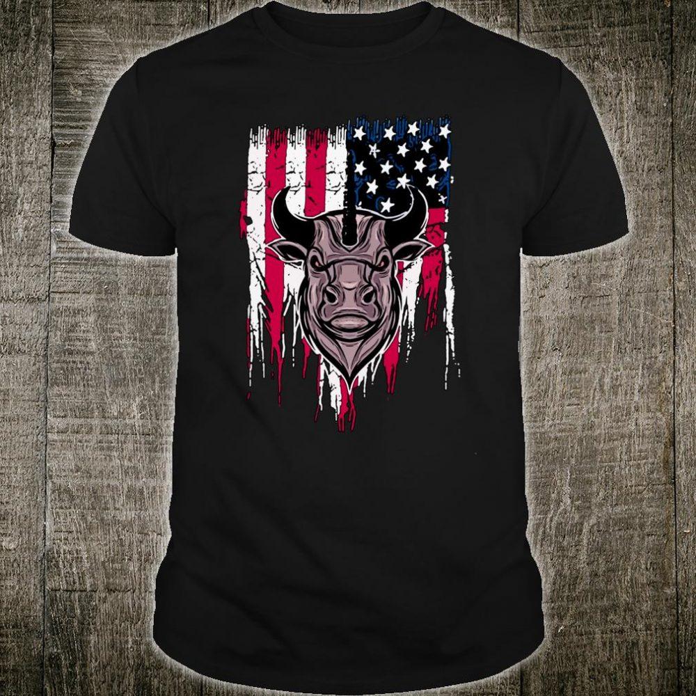 Stier amerikanische Flagge Bull Shirt