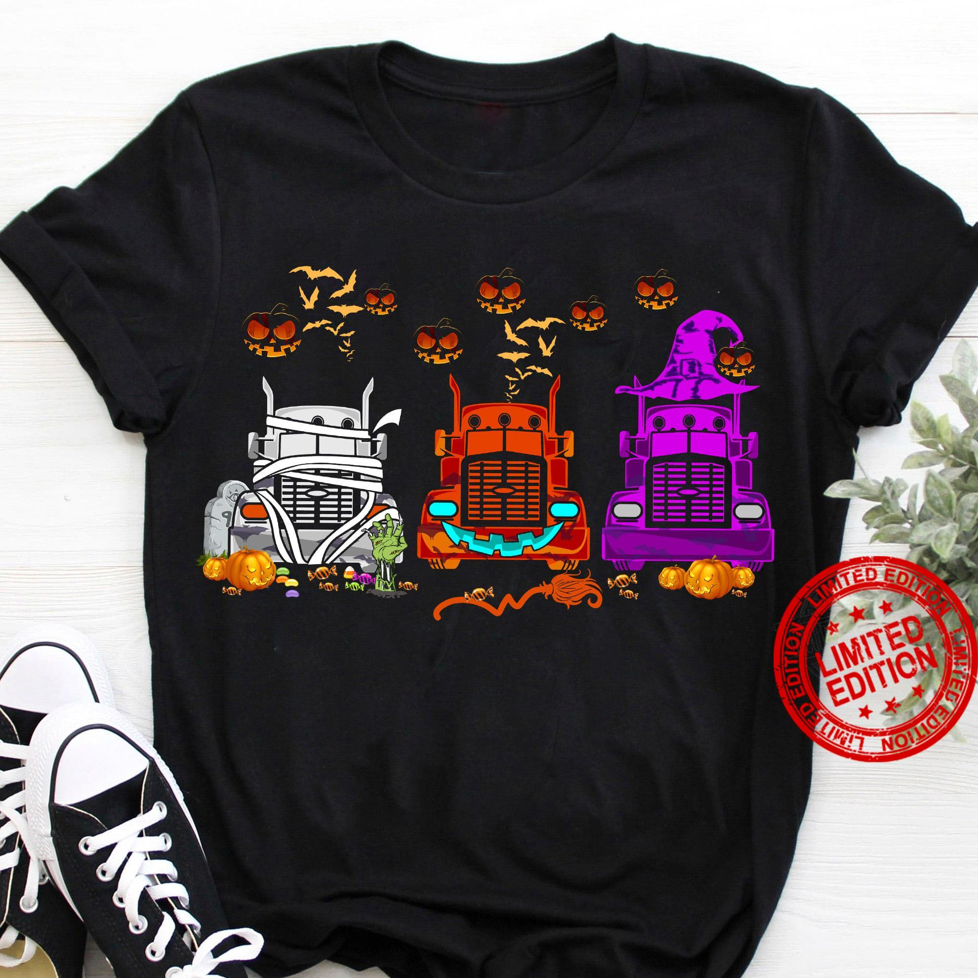 Trucker Halloween Shirt