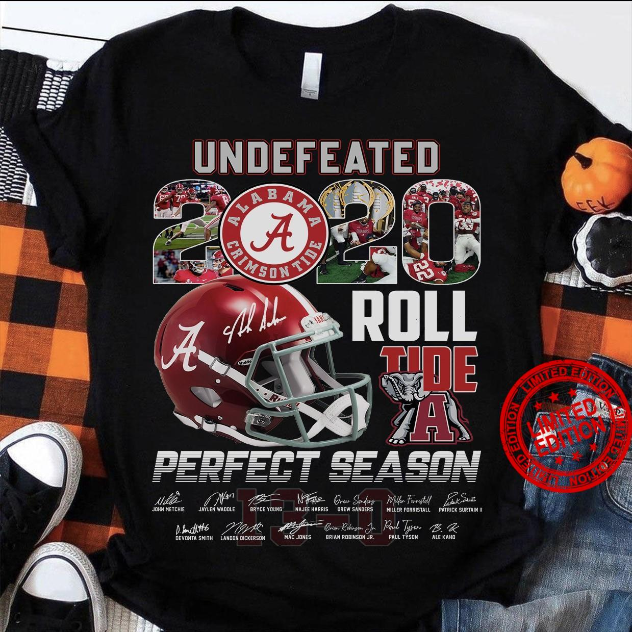 Undefeated 2020 Roll Tide Perfect Season Shirt
